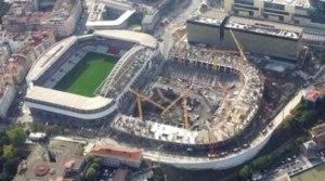 het oude en het nieuwe stadion