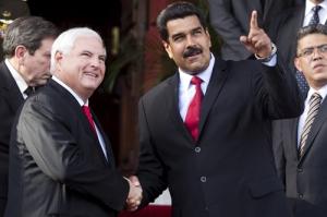 Maduro en Martinelli in juli 2013