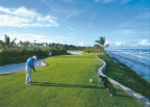 Golfbaan aan zee