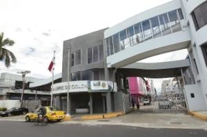 ingang van het ZLC, de vrijhandelszone in Panamá