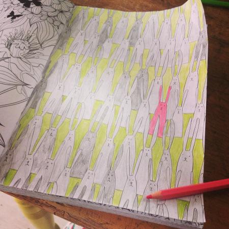Binnen de lijntjes kleuren